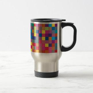 Pixel Rainbow Square Pattern Coffee Mug