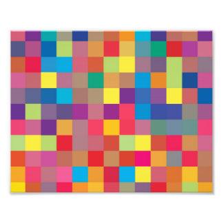 Pixel Rainbow Square Pattern Art Photo