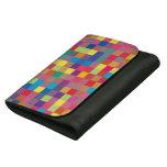 Pixel Rainbow Square Pattern Women's Wallets