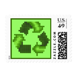 Pixel Recycle Postage