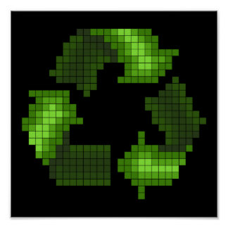 Pixel Recycle Poster