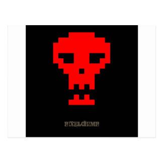 Pixel_Red_Skull Postcard