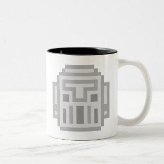 Pixel Robot Two-Tone Coffee Mug