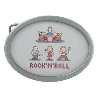 Pixel Rock'n'Roll Band Belt Buckle