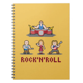 Pixel Rock'n'Roll Band Paper Notebook