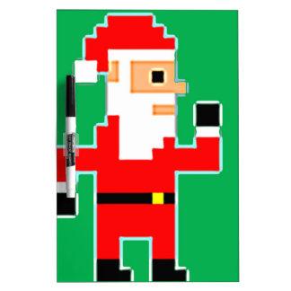 Pixel Santa Clause Dry Erase Board