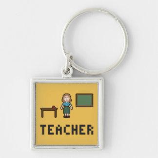 Pixel School Teacher Keychain