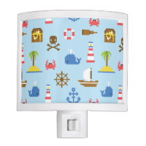 Pixel Sea Art Pattern Night Light