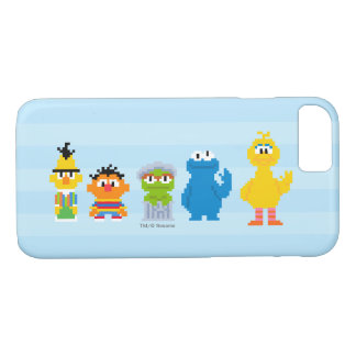 Pixel Sesame Street Characters iPhone 8/7 Case
