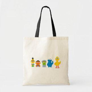 Pixel Sesame Street Characters Tote Bag