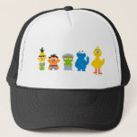 "Pixel Sesame Street Characters Trucker Hat<br><div class=""desc"">Check out the pixel version the Sesame Street characters!        This item is recommended for ages 13 . &#169;  2014 Sesame Workshop. www.sesamestreet.org</div>"