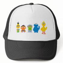 Pixel Sesame Street Characters Trucker Hat