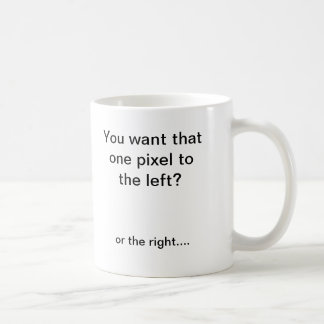 Pixel shifter coffee mugs