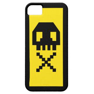 Pixel Skull Gamer Yellow iPhone 5 Case