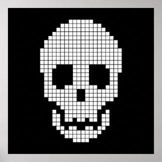 Skull Pixel Art Posters & Framed Artwork