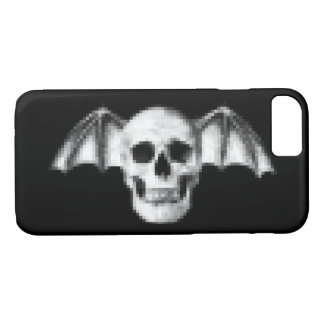 Pixel Skull with Bat Wings iPhone 7 Case