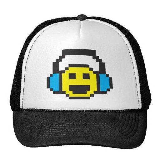 Pixel Smiley DJ Trucker Hat
