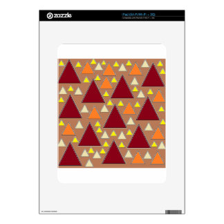 pixel snow topped fall mountain ranges iPad decal