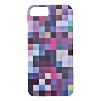 Pixel Squares iPhone 7 case - purples