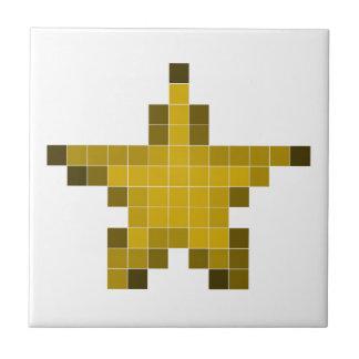 Pixel Star Ceramic Tiles