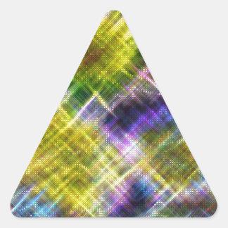 Pixel Stars Triangle Sticker