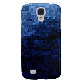 Pixel the ice Blue Cube Samsung Galaxy S4 Case