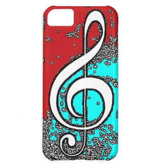 Pixel Treble Clef Cover For iPhone 5C