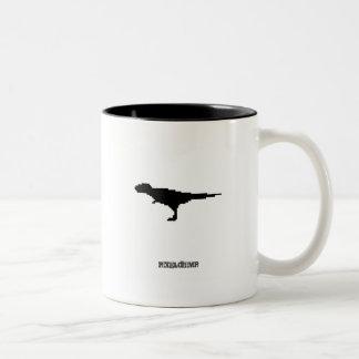 Pixel Trex Two-Tone Coffee Mug