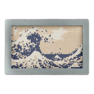 Pixel Tsunami 8 Bit Pixel Art Belt Buckles