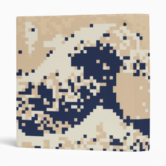 Pixel Tsunami 8 Bit Pixel Art Vinyl Binder