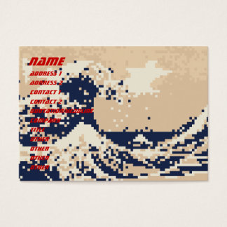 Pixel Tsunami 8 Bit Pixel Art Business Card