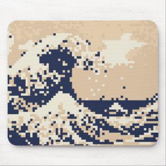 Pixel Tsunami 8 Bit Pixel Art Mouse Pad