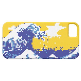 Pixel Tsunami Blue 8 Bit Pixel Art iPhone SE/5/5s Case