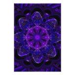 Pixel ULTRAVIOLETA púrpura oscuro del fractal espi Fotografía