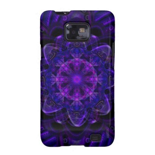 Pixel ULTRAVIOLETA púrpura oscuro del fractal espi Galaxy SII Carcasa