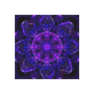 Pixel ULTRAVIOLETA púrpura oscuro del fractal espi Impresión En Tela