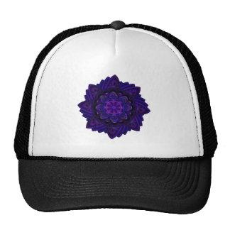 Pixel ULTRAVIOLETA púrpura oscuro del fractal Gorras