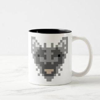 Pixel Wolf Two-Tone Coffee Mug