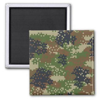 Pixel Woodland Camouflage Magnet