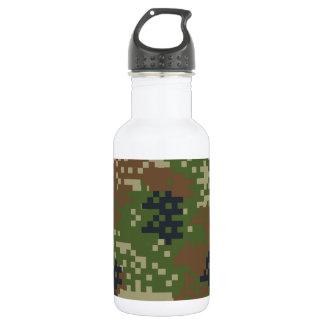 Pixel Woodland Camouflage Water Bottle