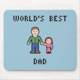 Pixel World's Best Dad Mousepad