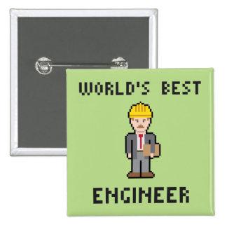 Pixel World's Best Engineer Button
