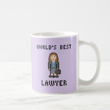 Pixel World's Best Female Lawyer Mug