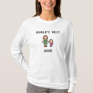 Pixel World's Best Girl Mom Long Sleeve T-Shirt