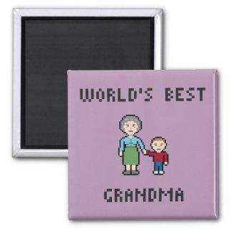 Pixel World's Best Grandma Magnet