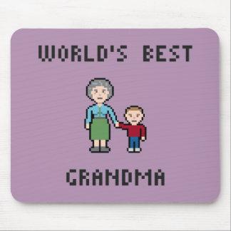 Pixel World's Best Grandma Mousepad