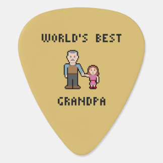 Pixel World's Best Grandpa Guitar Pick