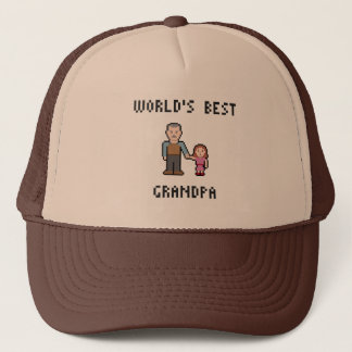 Pixel World's Best Grandpa Hat