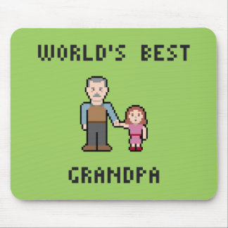 Pixel World's Best Grandpa Mousepad