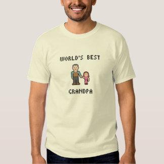 Pixel World's Best Grandpa T-Shirt